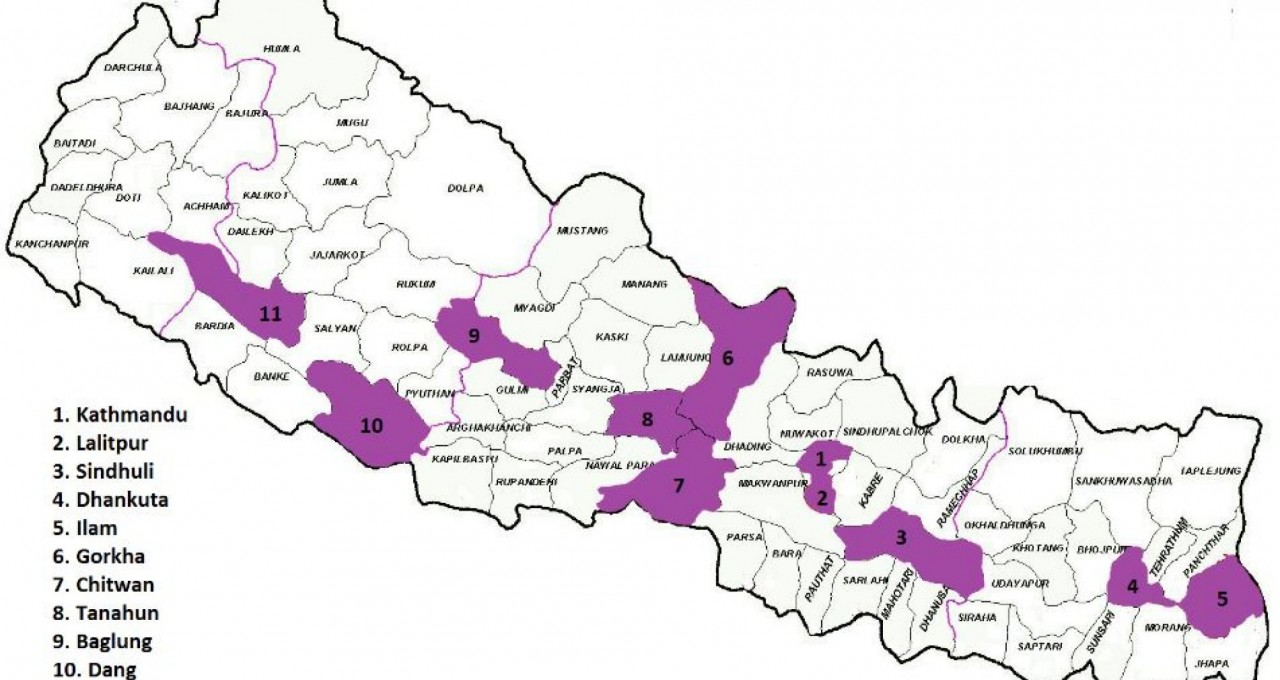PSD Map of Nepal